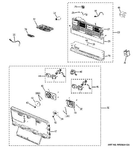 ge profile refrigerator diagram shelves ge profile refrigerator diagram shelves free
