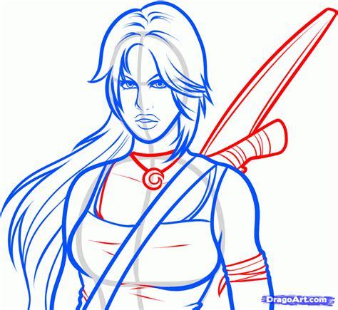 draw tomb raider lara croft tomb raider step