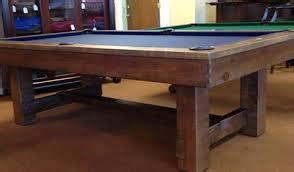 rustic pool tables handmade rustic can be yours