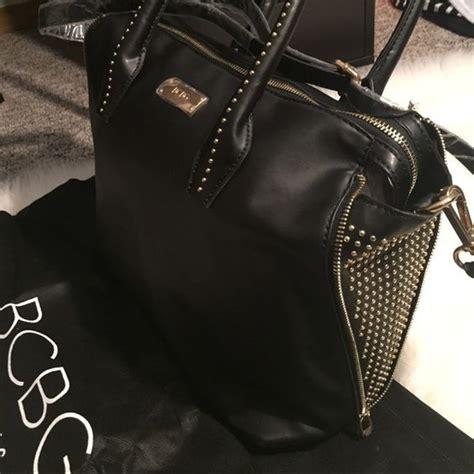 Zeca 333 Gold Leather Black Original gorgeous bcbg black leather w gold studs purse black