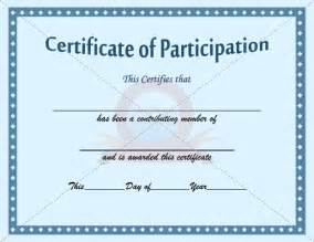 certification of participation free template participation certificate template participation