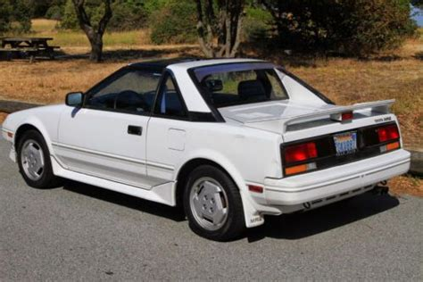 car owners manuals for sale 1987 toyota mr2 parking system find used 1987 toyota mr2 t bar manual 2 seater sports car in palo alto california united