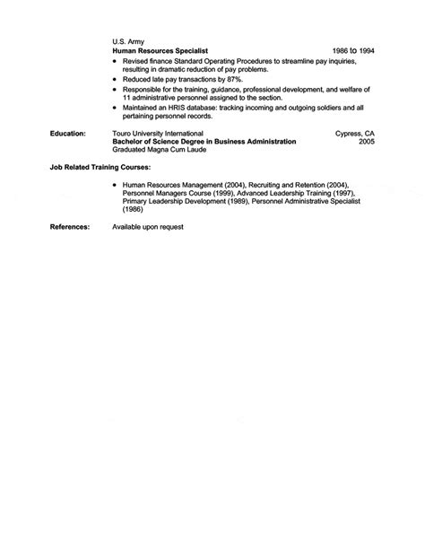 military transition resume examples 3 - Military Transition Resume Examples