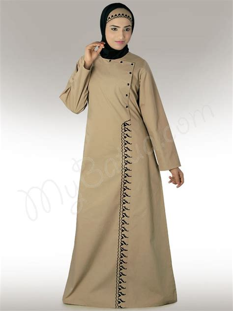 Dress Muslim Abaya Hikmat Fashion A806 Beige wasimah beige abaya any size any length we customize click image to buy and view detail
