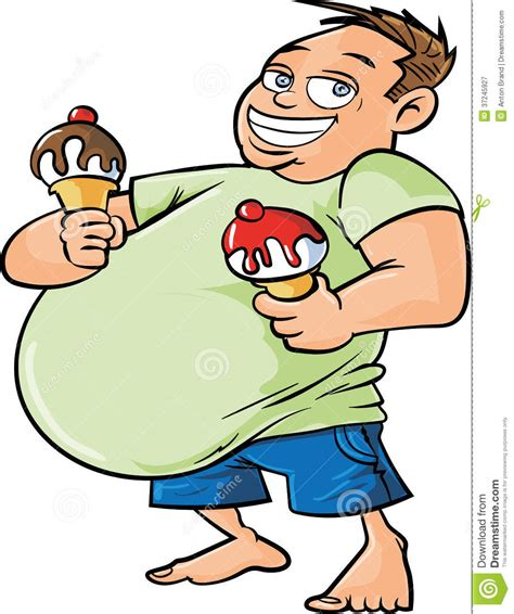 Home Design 2d Free by Cartoon Overweight Man Holding Two Ice Creams Royalty Free