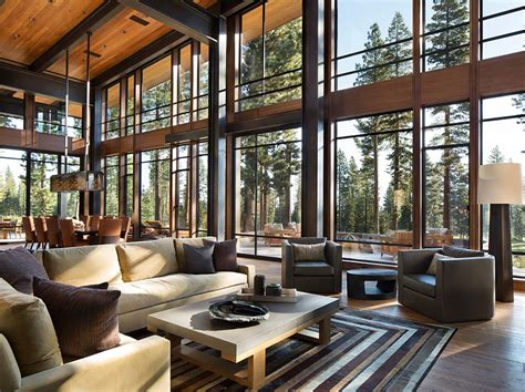 contemporary home interiors fabulous mountain modern retreat in the high sierras