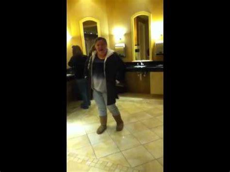 dancing in the bathroom girl dancing in public bathroom so funny chases old women