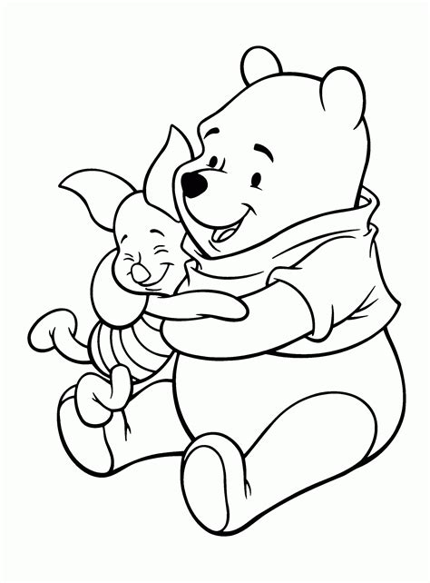 coloring book page drawing pooh and piglet drawing drawing sketch picture
