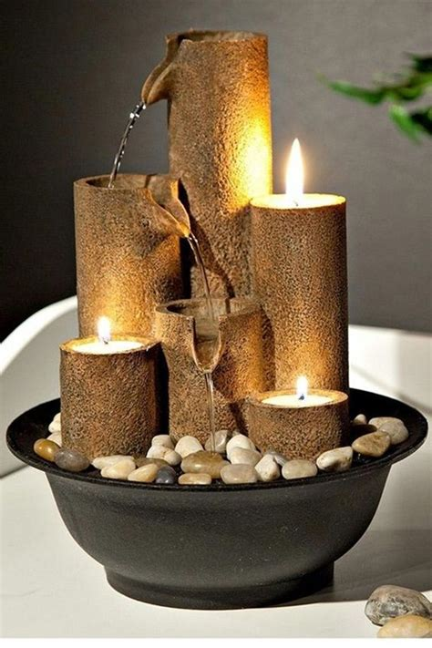 relaxing indoor fountain ideas tabletop water