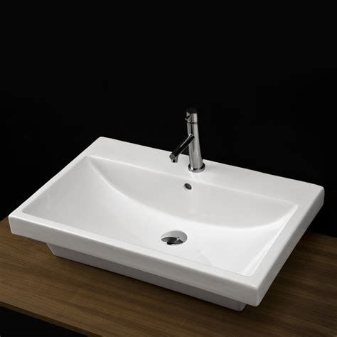 lacava bathroom sinks lacava 4271 piazza wall mount porcelain sink with overflow