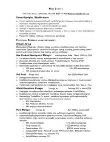 manufacturing operations manager resume dawson