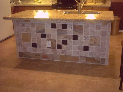 Kitchen Island Tile Tiled Kitchen Island