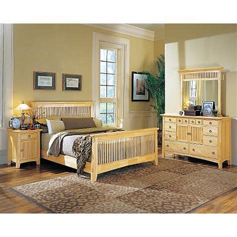 american signature arts and crafts bed arts crafts natural finish 5 pc king bedroom package