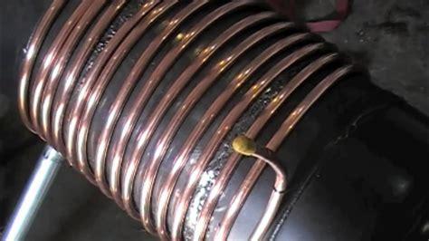 gas bottle wood stove heat exchanger youtube