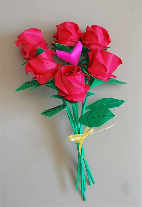 origami bouquet of roses bouquet origami roses paper roses anniversary