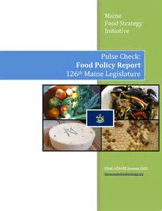 pulse check 126th maine state legislature maine food