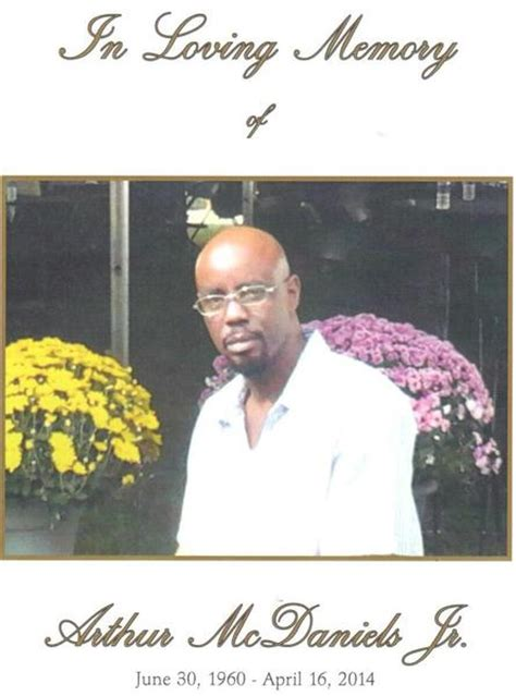 arthur mcdaniels jr obituary the derrick c jones