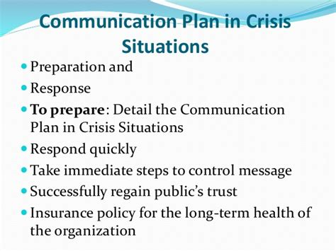 Mba Insurance Trust by Communication In Crisis Situations