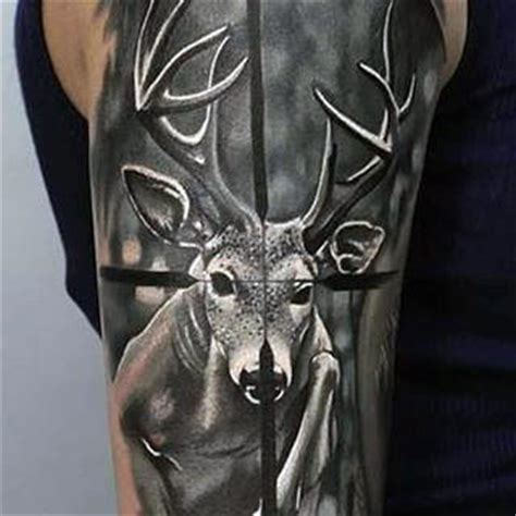 deer hunter tattoo design 70 tattoos for skills of war in times of peace
