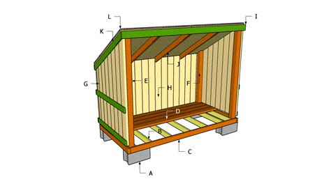 3 Sided Shed Plans Free by How To Build A 3 Sided Wood Shed Plans Free
