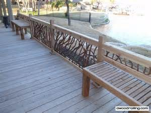 bench railing deck railing for lake house tub built in