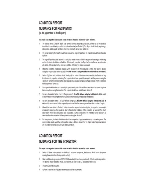 Electrical Condition Report Template Sle Electrical Installation Condition Report Form Free