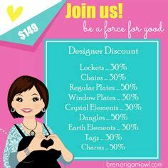 Origami Owl Designer Discount - business ideas origami owl custom jewelry