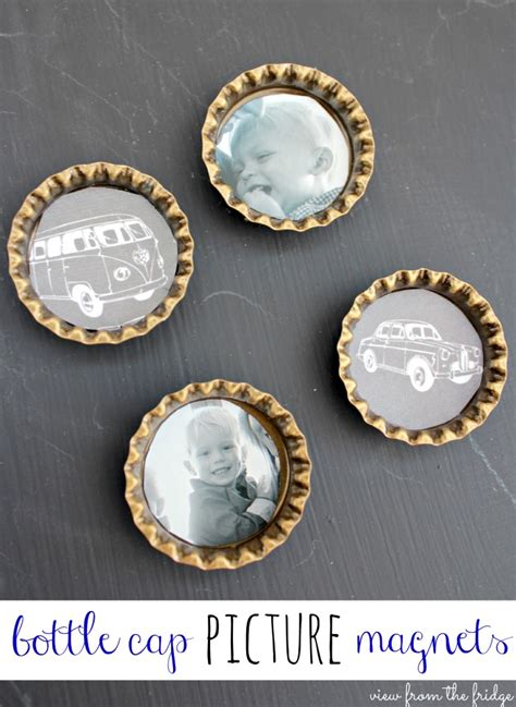 diy bottle cap magnets 21 handmade gifts you can make in less than one hour