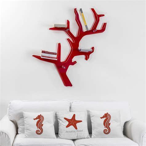 libreria rossa libreria da parete rossa design moderno carol made in italy