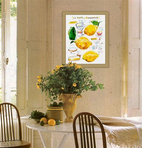 lemon kitchen decor lemon meringue pie recipe print kitchen art watercolor