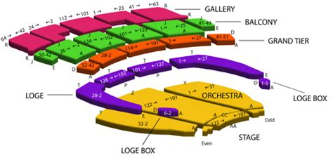 orpheum theatre boston seating chart orpheum seating