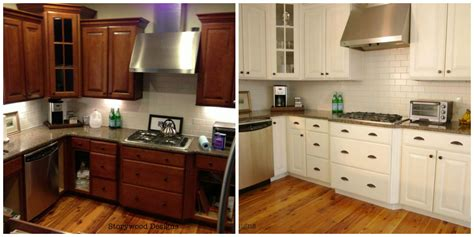 Painting Cabinets White Before And After Cabinets Matttroy