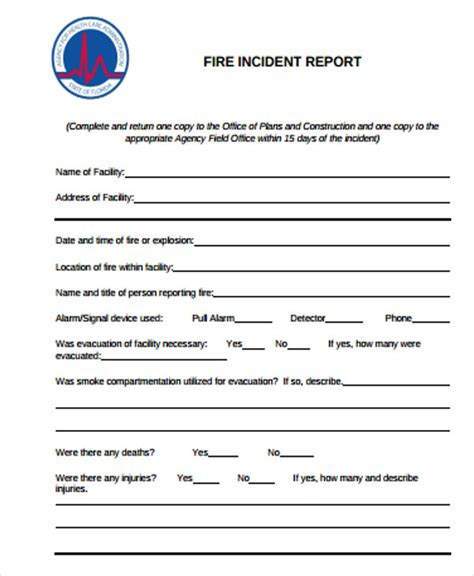 construction incident report template 15 free word pdf