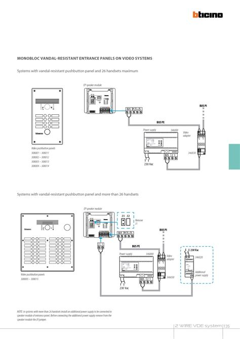 bticino intercom wiring diagram 31 wiring diagram images