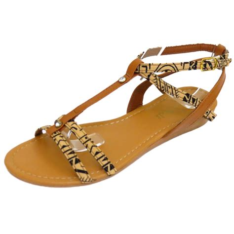 Sandal Wanita Ina Flat Shoes Beige flat comfy sandals flip flop shoes t bar summer pumps uk 3 8 ebay