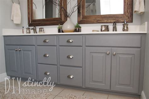 how to paint a bathroom cabinet painted bathroom cabinets diystinctly made