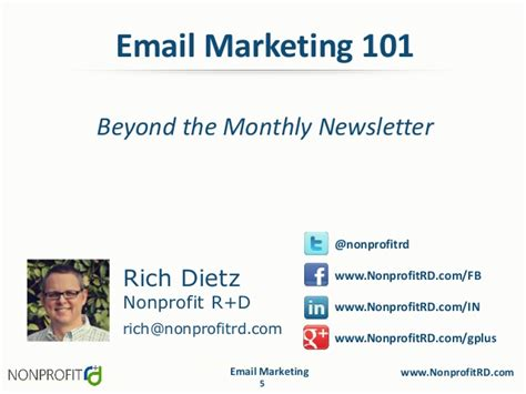 Email Marketing 5 by Email Marketing 101 Beyond The Monthly Newsletter