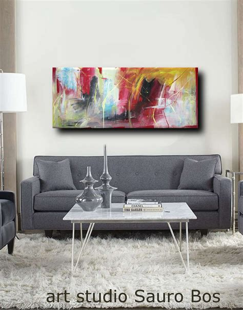 quadri per soggiorno quadri astratti per soggiorno moderno 150x65 sauro bos