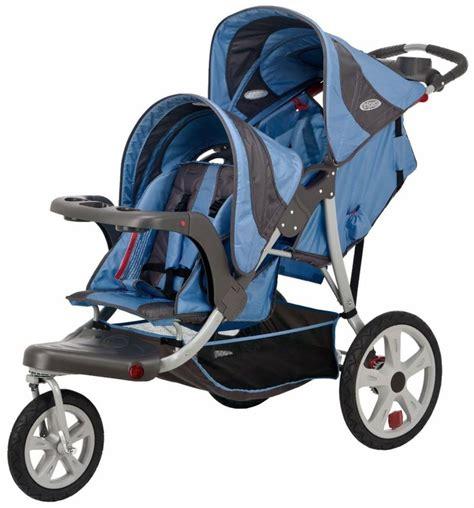 instep 2 seat stroller instep safari blue gray jogger seat stroller