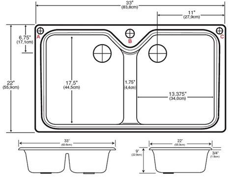 stylish standard double kitchen sink size standard kitchen
