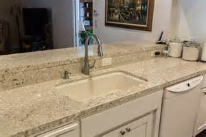 Kitchen Backsplash Ideas With Cream Cabinets chakra beige quartz countertops q premium natural quartz