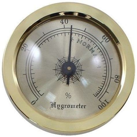 Analog Hygrometer White Large gold analog hygrometer 1 3 4 quot