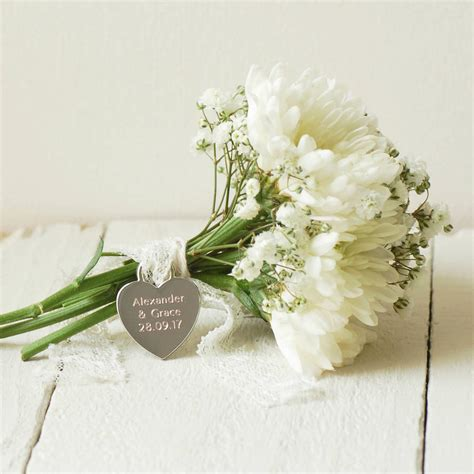 Wedding Bouquet Charms by Personalised Bridal Bouquet Charm By Highland