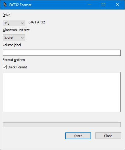 format fat32 allocation unit size как форматировать флешку или диск в fat32 с объемом больше