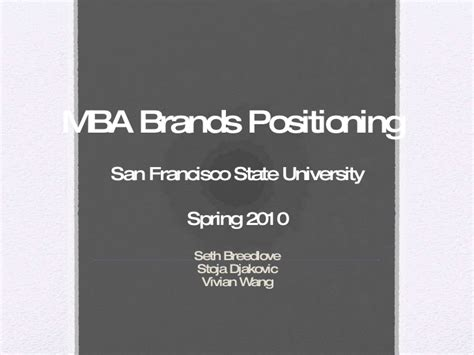Csueb Mba Acceptance Rate by Mba Branding And Consumer Perception Study