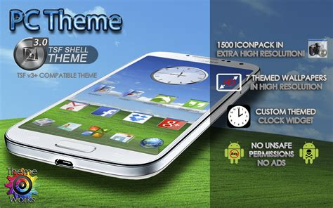 themes tsf launcher tsf shell launcher theme pc app android su google play