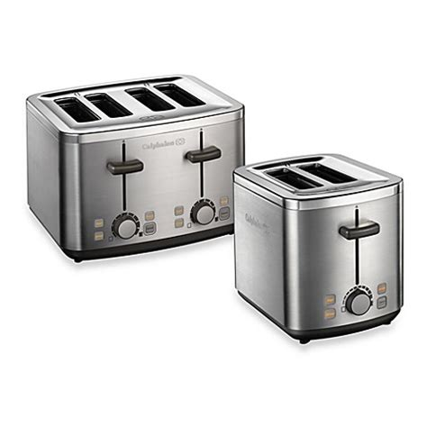 bed bath and beyond toasters calphalon 174 brushed stainless steel toaster bed bath beyond