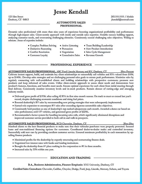 Technician Resume by Writing A Concise Auto Technician Resume