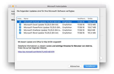 Office 64 Bit office 2016 f 252 r mac update bringt 64 bit unterst 252 tzung macerkopf