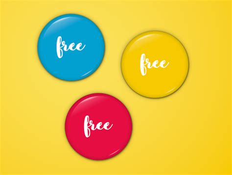 20 high quality pin button badges psd vector free